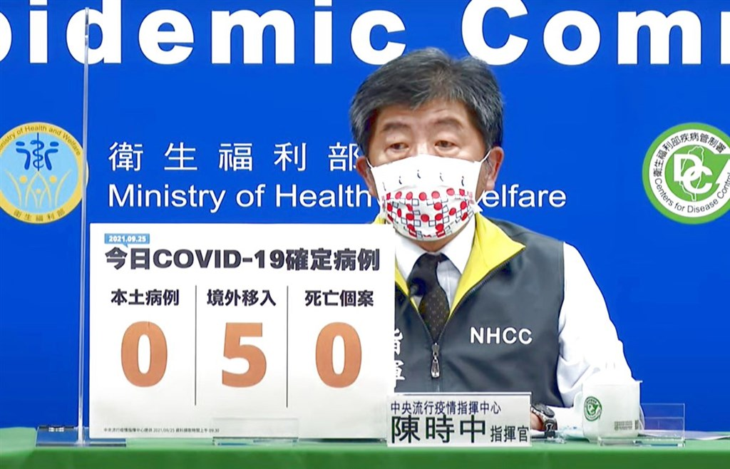 Taiwan reports five new COVID-19 cases, no deaths